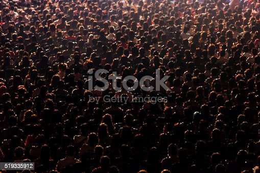 istock Rear view of people abstract background blur motion 519335912