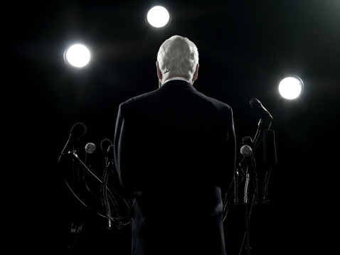 Rear View Of Politician Stock Photo - Download Image Now