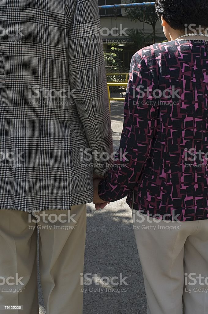 Rear view of senior couple royalty-free 스톡 사진