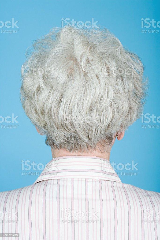 Rückansicht des senior Frau – Foto