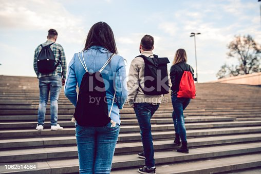 872670290istockphoto Rear View Of Student Colleagues On Stairs 1062514584