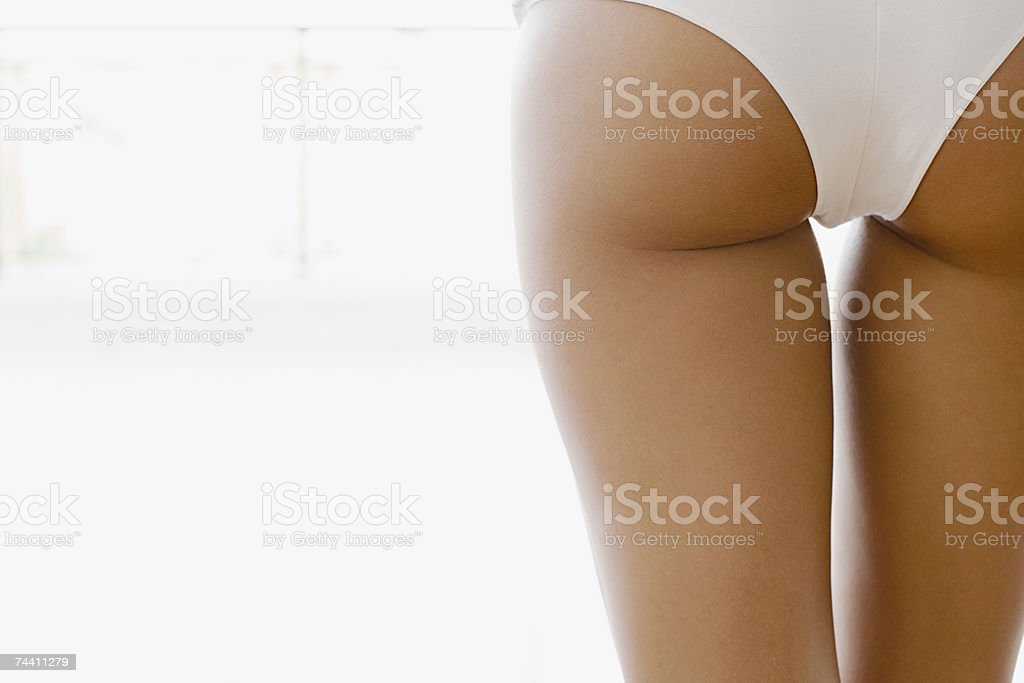 Rear view of woman stock photo