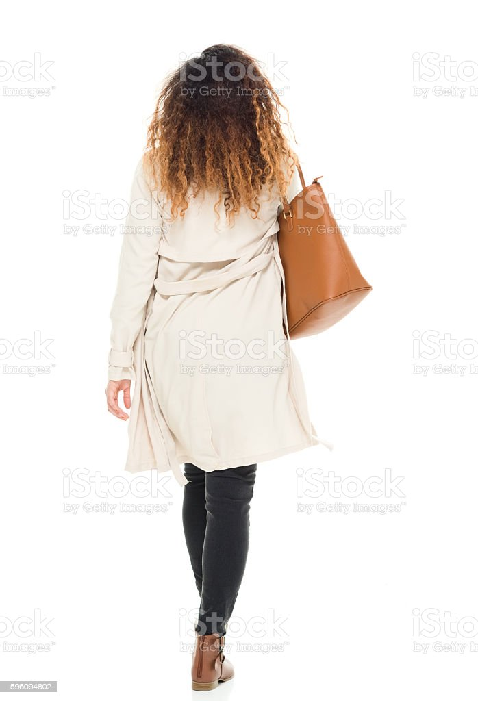 Rear view of woman walking royalty-free stock photo