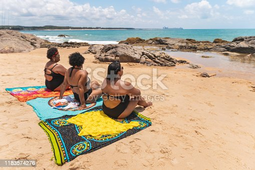 Women, Tourists, Beach, Rear View, Summer