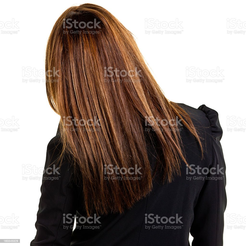 Rear View of Young Businesswoman stock photo