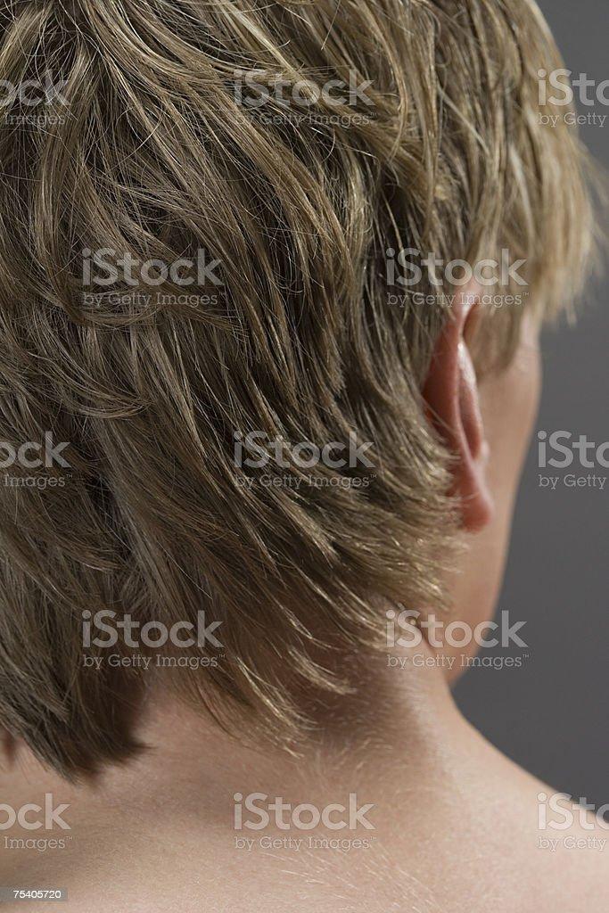 Rear view of young man foto de stock royalty-free