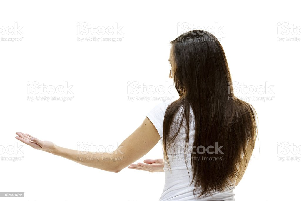 Rear view of young woman royalty-free stock photo