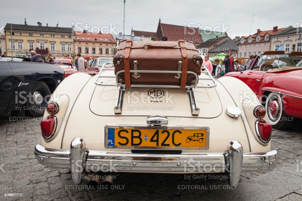 MG 1600, rear view, retro design car. Exhibition of vintage cars....