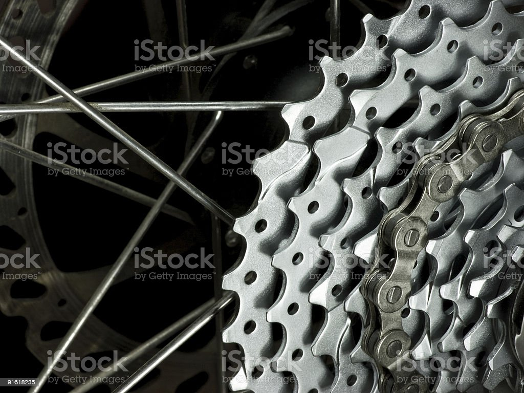 Rear wheel detail royalty-free stock photo
