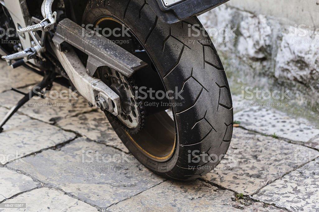 rear wheel stock photo