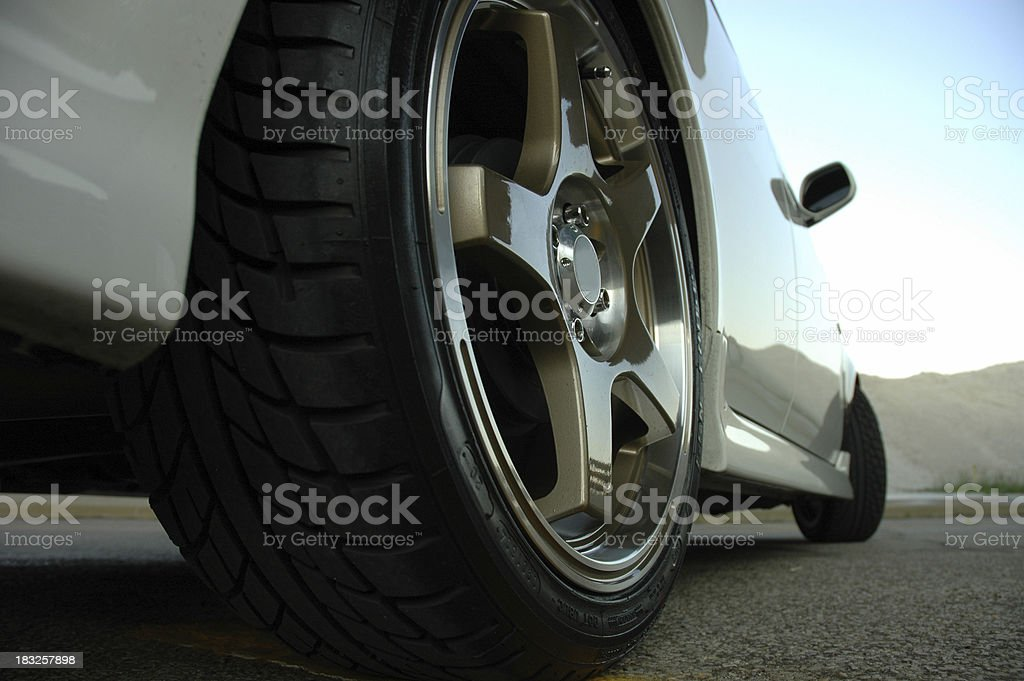 Rear Wheel - worm's eye view stock photo