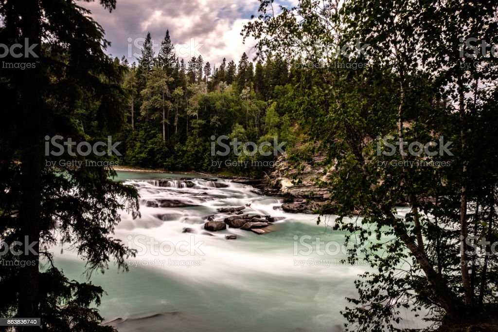 Rearguard Falls Provincial Park stock photo