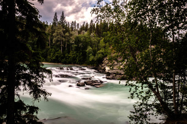 rearguard falls provincial park - provincial park stock photos and pictures