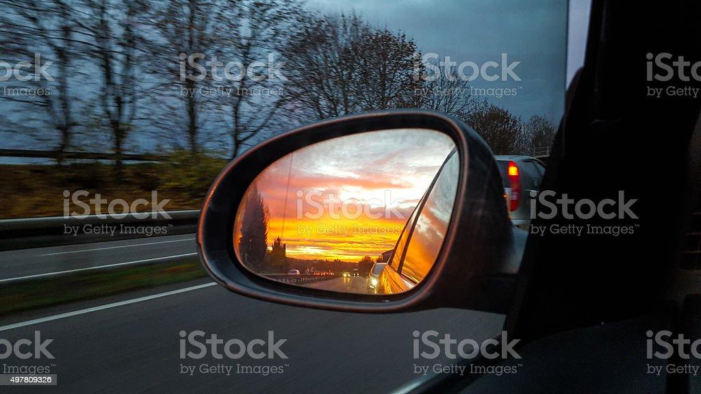 rear-view miror stock photo