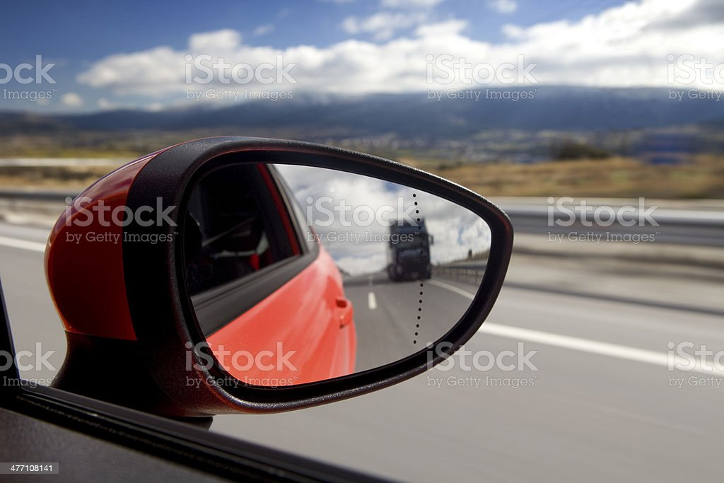 Rear-View Mirror stock photo