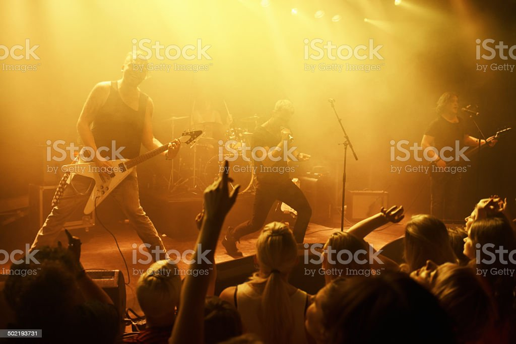 Feeding off their mutual love for music stock photo