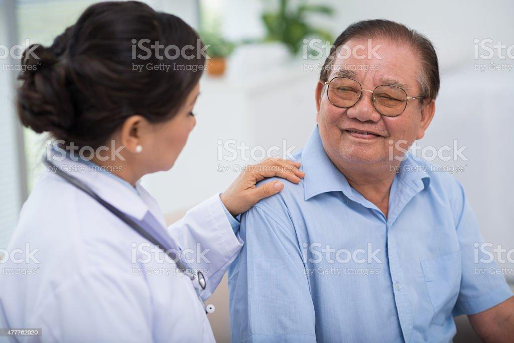 Reassuring patient stock photo