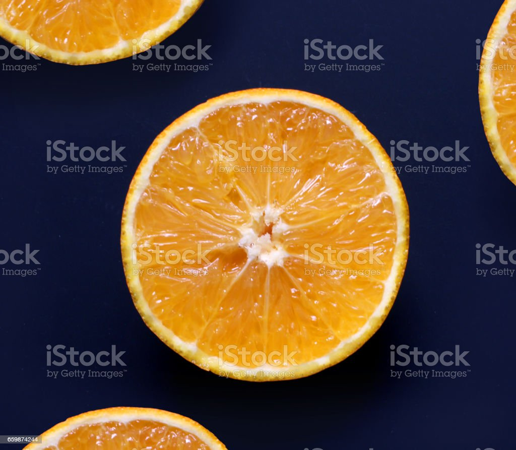 Rebanadas de naranja stock photo