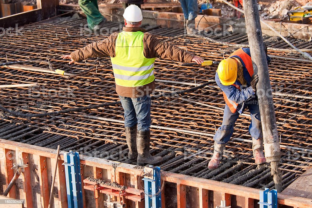 rebar construction and concrete stock photo - download image now