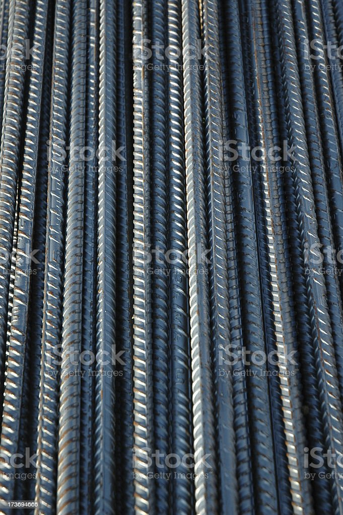 Rebar in a Row stock photo