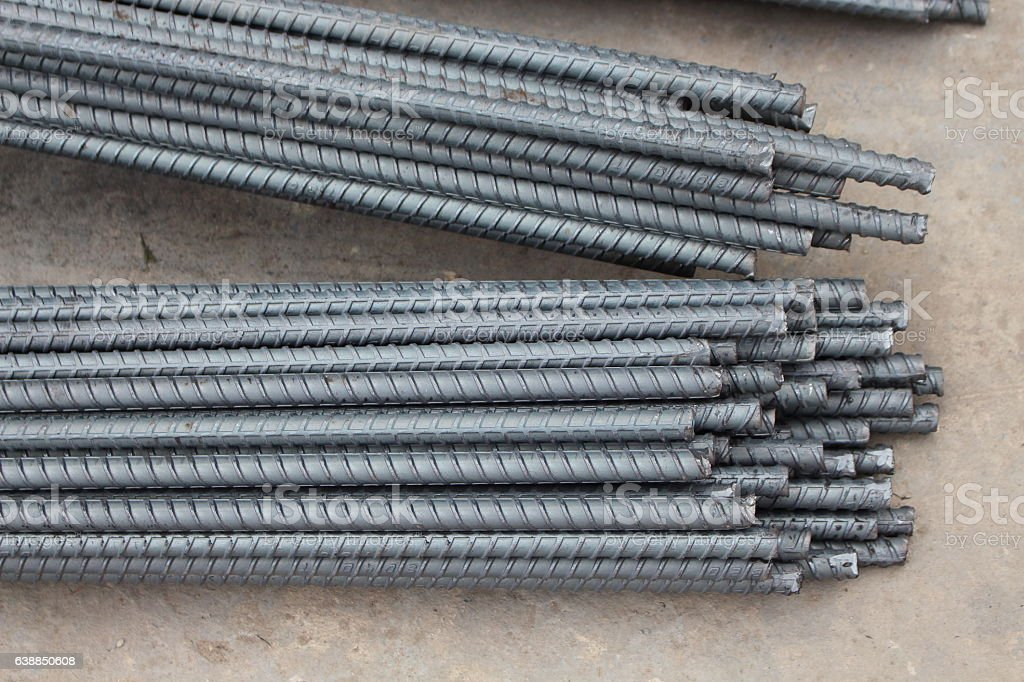 Rebar is used in industrial applications - Photo