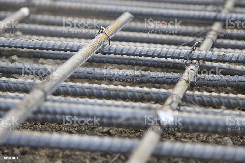 Rebar pattern stock photo