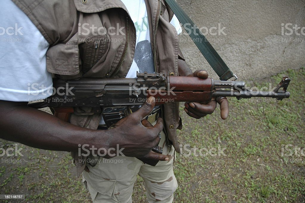 Rebel and his Rifle stock photo