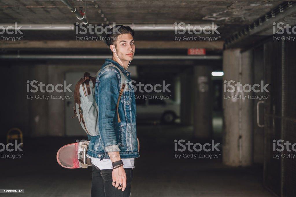 Rebellische Teenager Skater boy – Foto