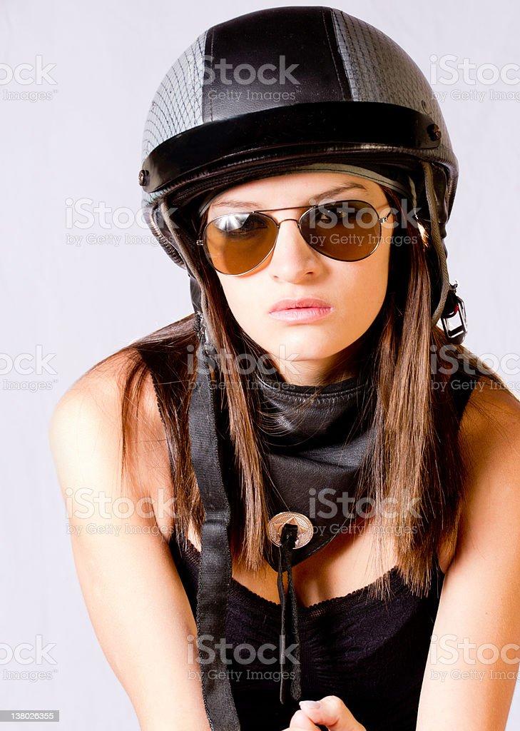 Rebel woman stock photo