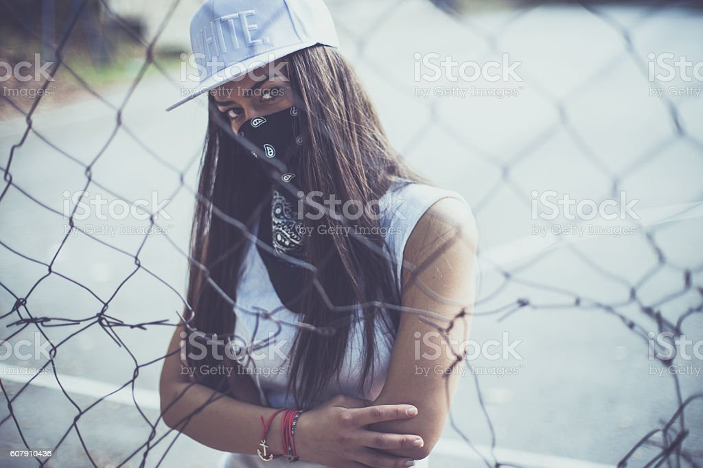 Rebellious mood stock photo