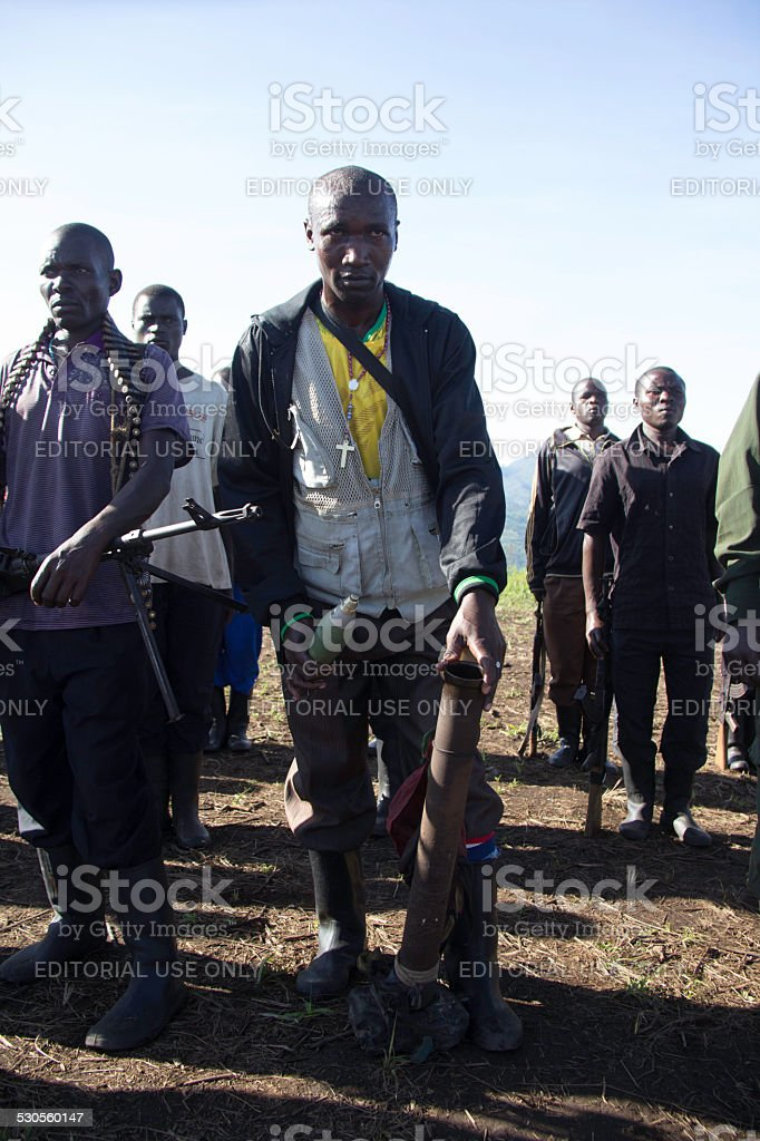 FDLR Rebels in DR Congo stock photo