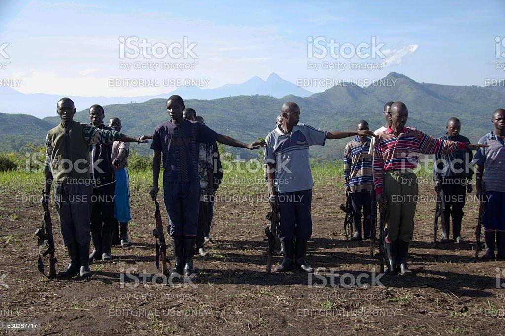 FDLR Rebels Training stock photo