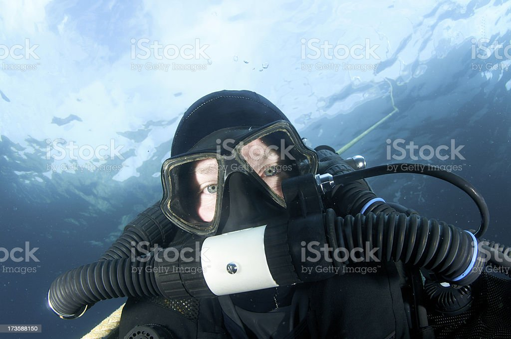 Rebreather diver royalty-free stock photo