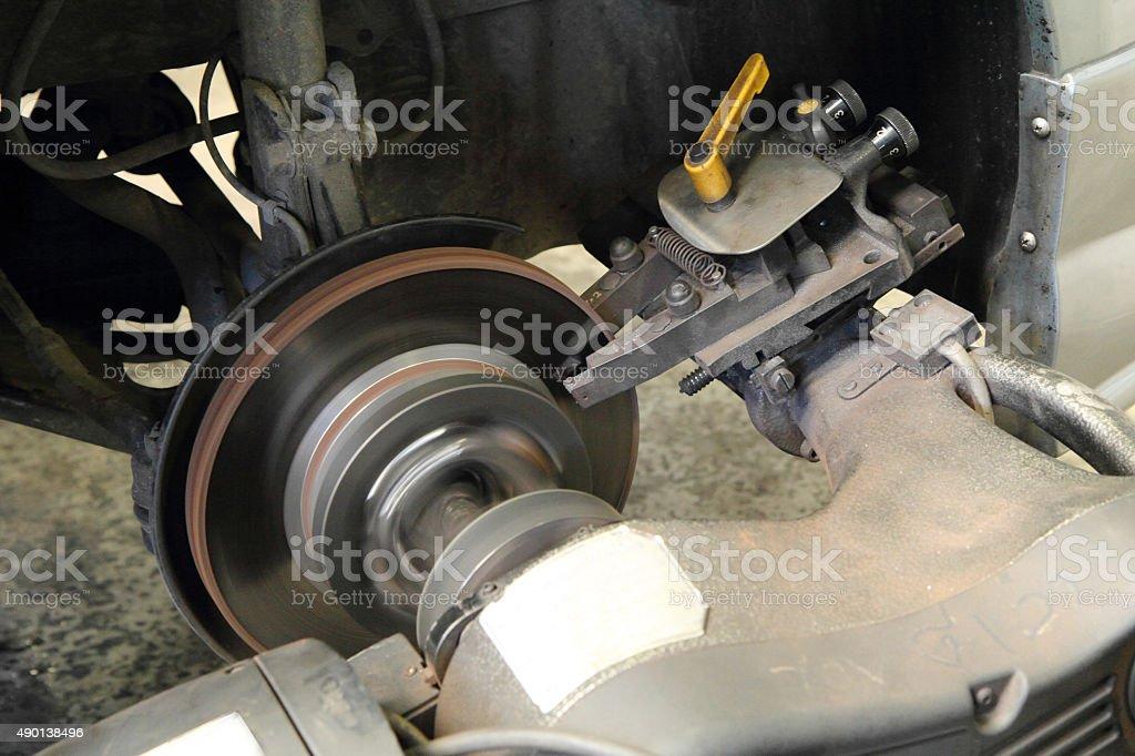rebuild disc brake surface stock photo