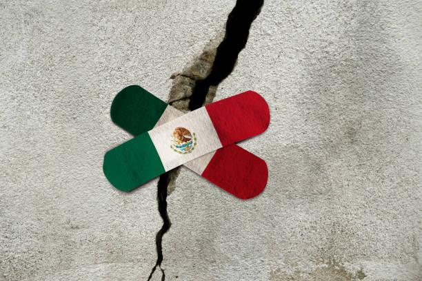 Rebuild Mexico City stock photo