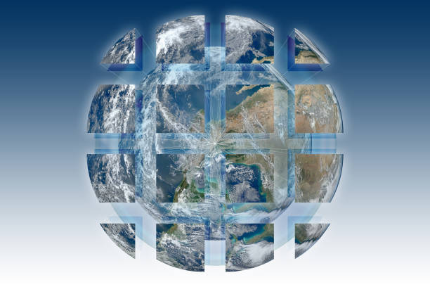 Rebuild the world - concept image with image from Nasa.