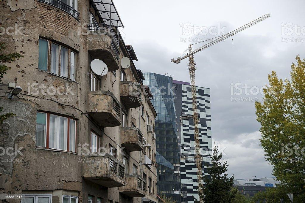 Rebuilding after war - Sarajevo, Bosnia royalty-free stock photo
