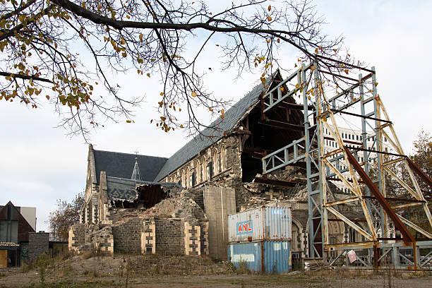 ricostruzione della cattedrale di christchurch - 2010 foto e immagini stock