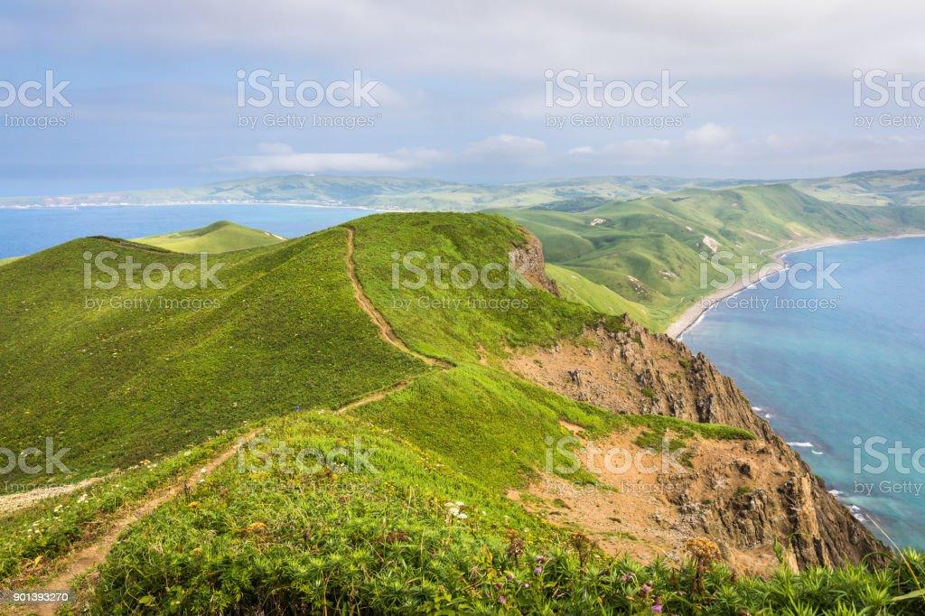 Rebun Island Cape Tour Course: Tefunefu stock photo