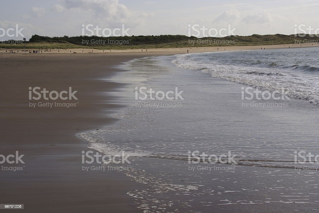 Receding waves royalty-free stock photo