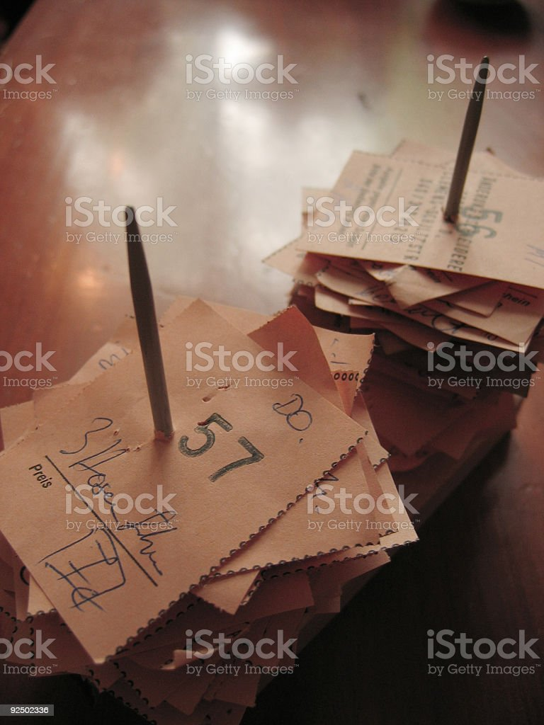 receipt royalty-free stock photo