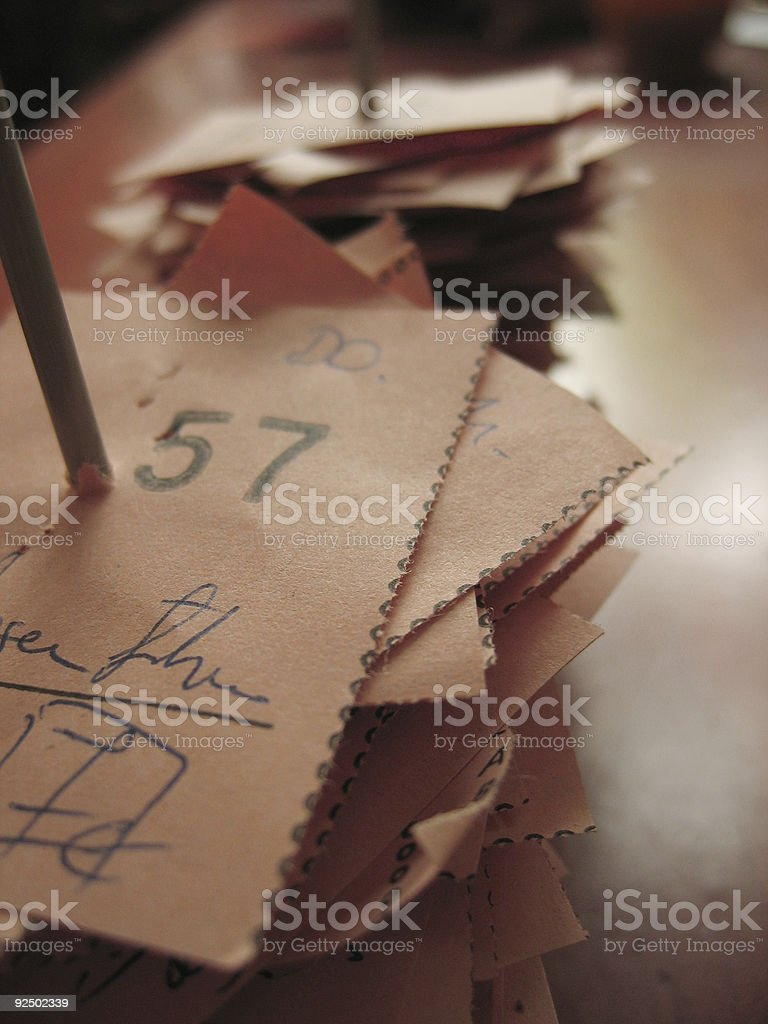 receipt royalty-free stock photo
