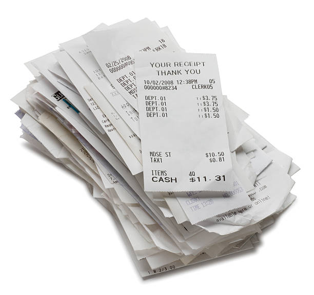 receipts - receipt stock photos and pictures