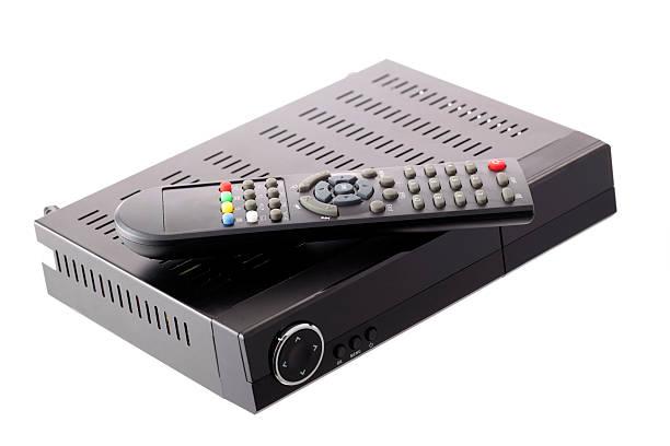 receiver untuk penerimaan sat dan dvb-t - decoder potret stok, foto, & gambar bebas royalti
