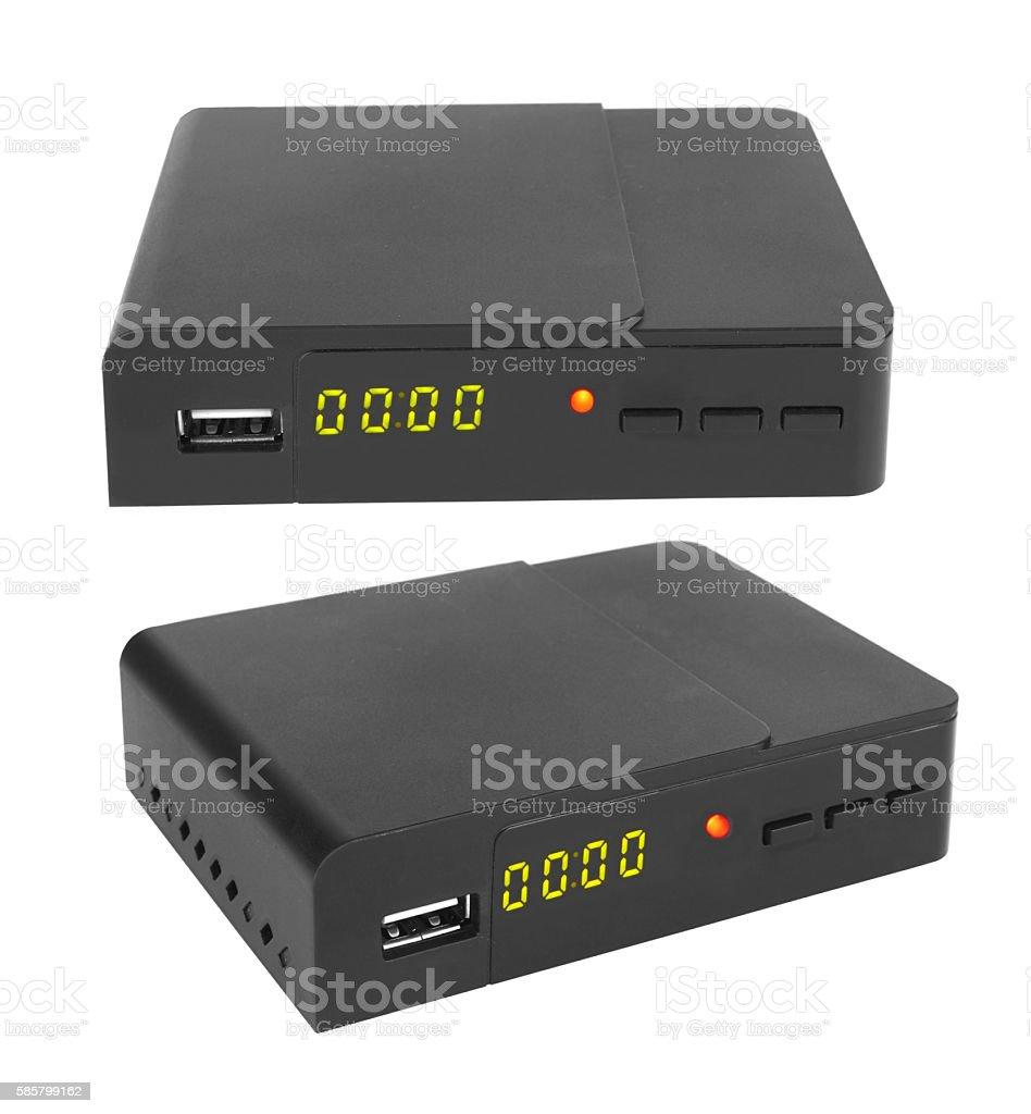 TV receiver stock photo