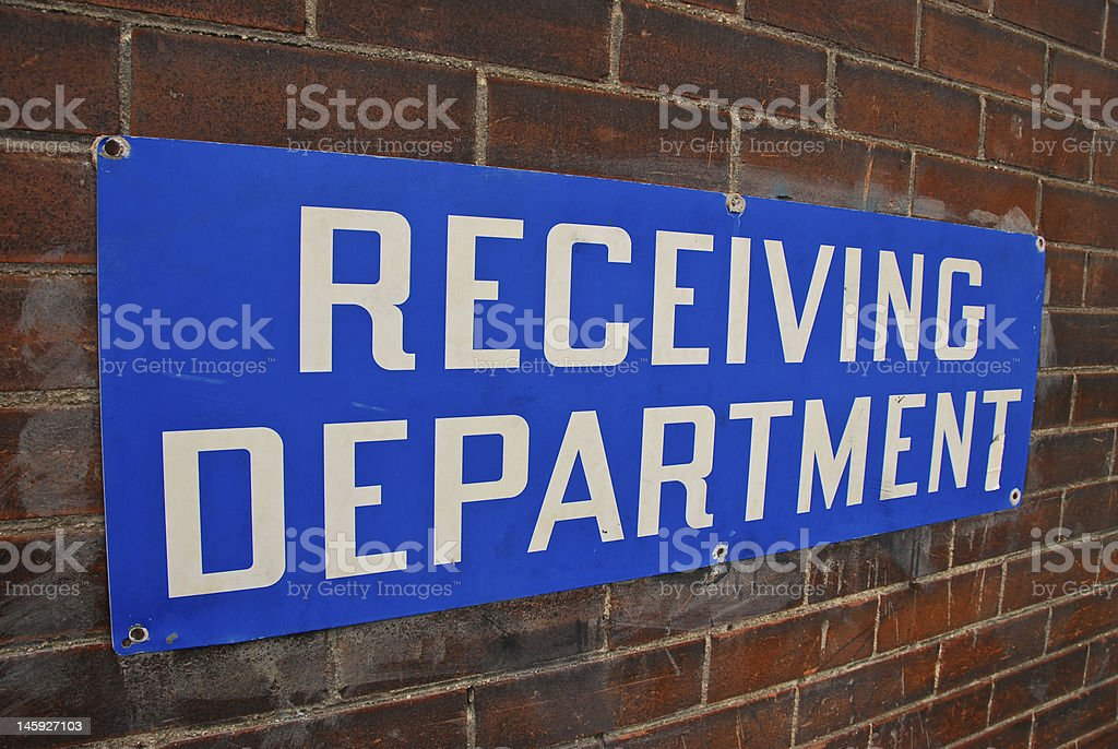 Receiving Department Sign royalty-free stock photo