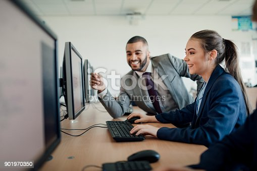 istock Receiving Help In A Lesson 901970350