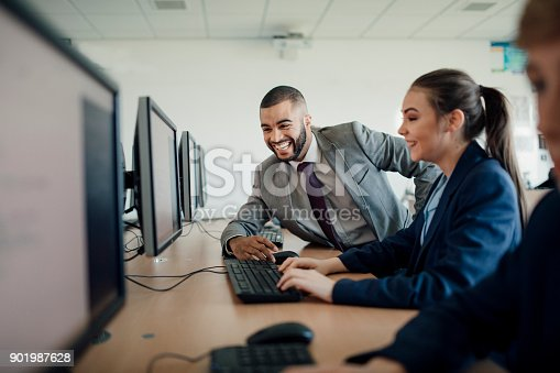 istock Receiving Help In A Lesson 901987628