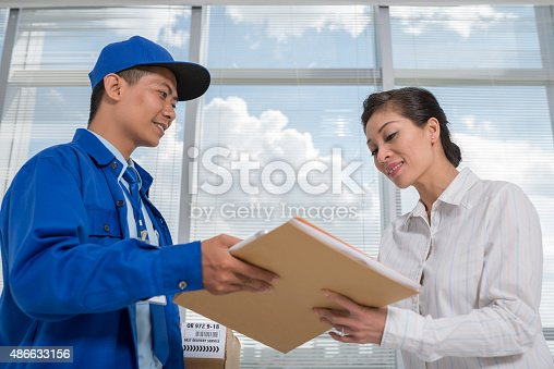 istock Receiving mail 486633156
