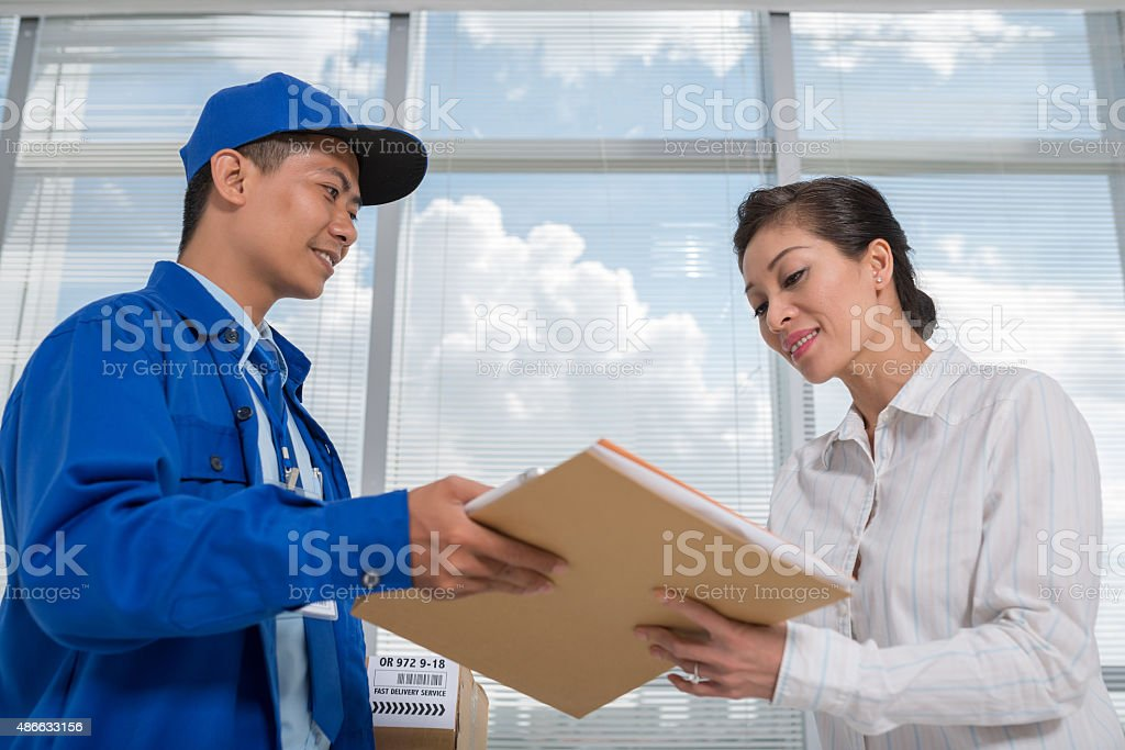 Receiving mail stock photo